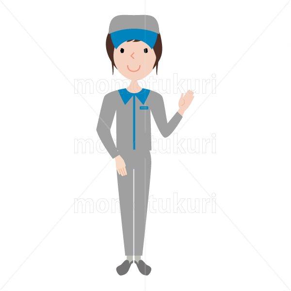 ハウスクリーニング  女性  灰色 長袖 (帽子)こちらです。