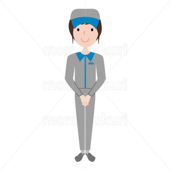 ハウスクリーニング  女性  灰色 長袖 (帽子)よろしくお願いします。