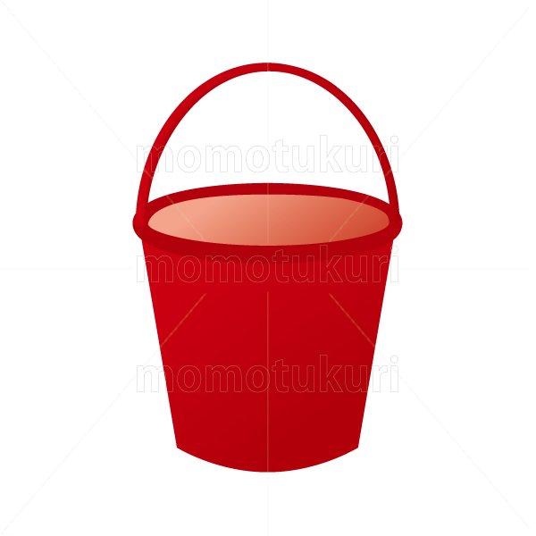 赤のバケツのイラスト