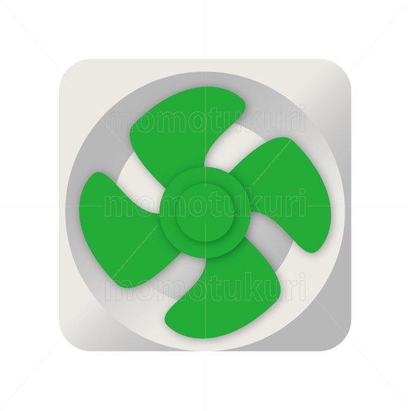 換気扇のイラスト 緑