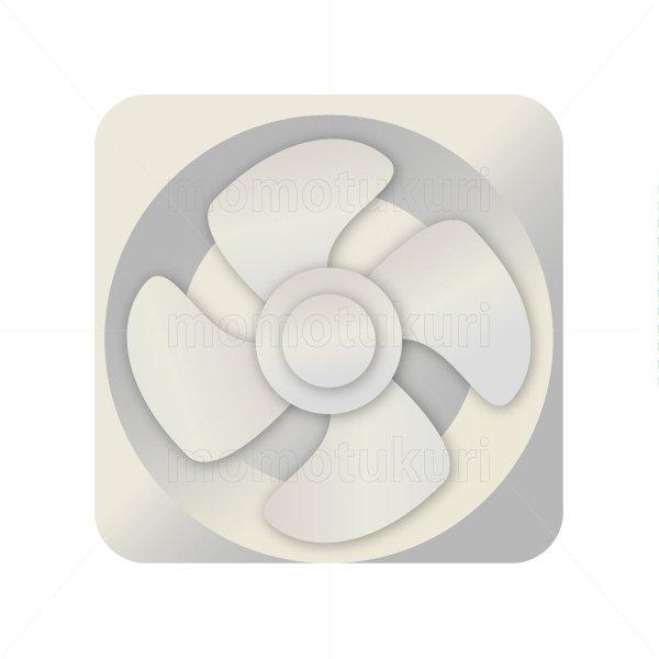 換気扇のイラスト  白