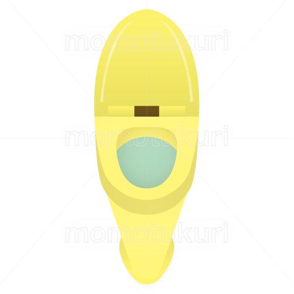 トイレのイラスト 黄色