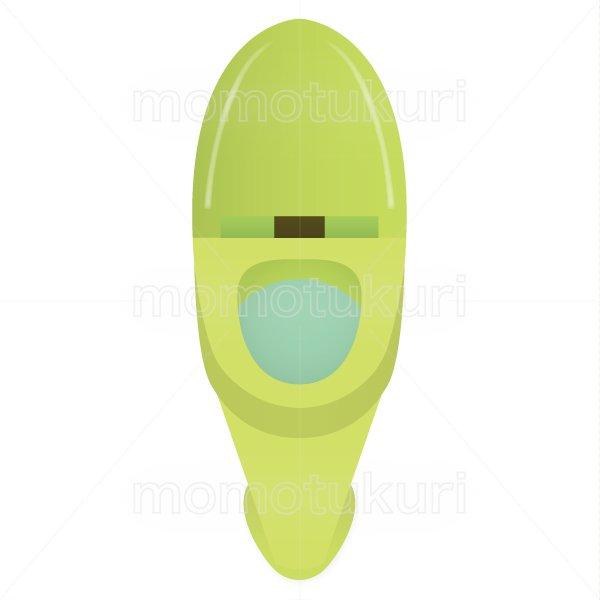 トイレのイラスト 緑