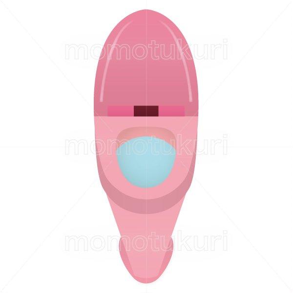 トイレのイラスト ピンク