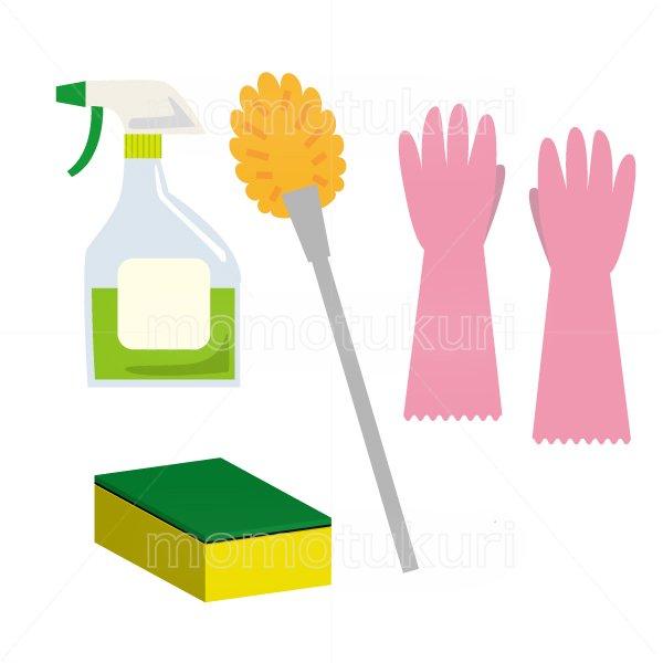 トイレ掃除セット トイレ用ブラシ トイレ用スプレー洗剤 スポンジ ビニール手袋