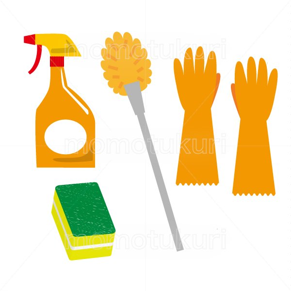 トイレ掃除セット トイレ用ブラシ トイレ用スプレー洗剤 スポンジ ビニール手袋 2