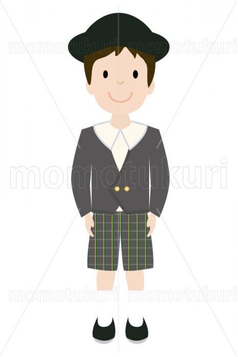 制服を着た幼稚園の男の子 2