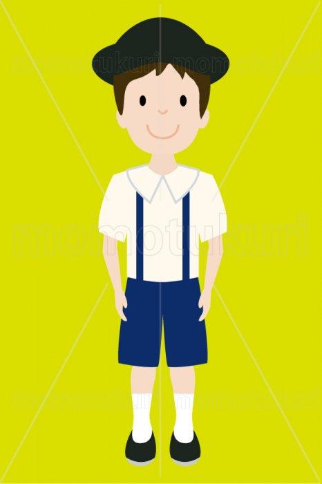 制服を着た幼稚園の男の子 3