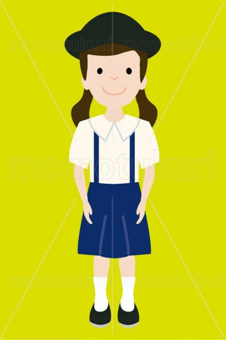 制服を着た幼稚園の女の子 3