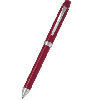 パイロット 複合筆記具(ボールペン黒0.7mm・赤・シャープ0.5mm)ツープラスワンリッジ ウルシ レッド BTHR−1MR−R