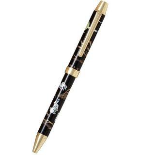パイロット 複合筆記具(ボールペン黒0.7mm・赤・シャープ0.5mm)ツープラスワン雅蒔絵 ウサギ 兎 BTHM−3SR−U