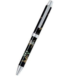 パイロット 複合筆記具(ボールペン黒0.7mm・赤・シャープ0.5mm)ツープラスワン雅蒔絵 ツルトマツ 鶴と松 BTHM−3SR−TM