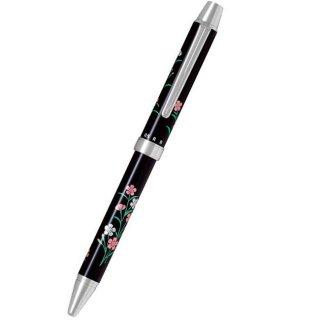 パイロット 複合筆記具(ボールペン黒0.7mm・赤・シャープ0.5mm)ツープラスワン雅蒔絵 ナデシコ 撫子 BTHM−3SR−NK