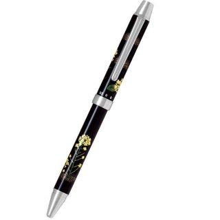 パイロット 複合筆記具(ボールペン黒0.7mm・赤・シャープ0.5mm)ツープラスワン雅蒔絵 ナノハナ 菜の花 BTHM−3SR−NA