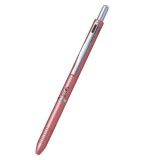 パイロット 複合筆記具(ボールペン黒0.7mm・赤・シャープ0.5mm)ツープラスワンスリム ピンク BKH−2SR−P