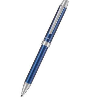 パイロット 複合筆記具(ボールペン黒0.7mm・赤・シャープ0.5mm)ツープラスワン エボルト ヘリンボ−ンブルーブラック BTHE−150R−HBB