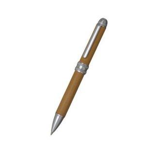 プラチナ万年筆 複合筆記具(ボールペン黒・赤・シャープ0.5mm)ダブル3アクション 牛ヌメ本革巻き ベージュ MWBL−5000