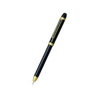 プラチナ万年筆 複合筆記具(ボールペン黒・赤・シャープ0.5mm)ダブルアクション R3 ブラック MWB−2500R