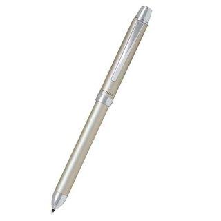 パイロット 複合筆記具(ボールペン黒0.7mm・赤・青)リッジ シャンパンゴールド BKTR−3SR−CGO