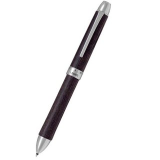 パイロット 複合筆記具(ボールペン黒0.7mm・赤・シャープ0.5mm)ツープラスワンレグノ ダークブラウン BTHL−3SK−DBN