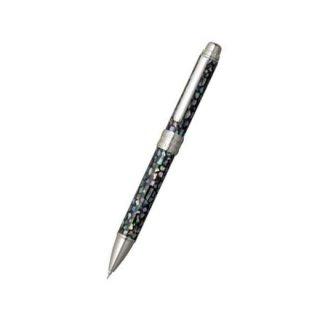 プラチナ万年筆 複合筆記具(ボールペン黒・赤・シャープ0.5mm)ダブル3アクション 螺鈿 ラデン MWBA−8000