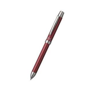 プラチナ万年筆 複合筆記具(ボールペン黒・赤・青・シャープ0.5mm)ダブル4アクション SARABO(サラボ) シャインレッド MWB−3000G