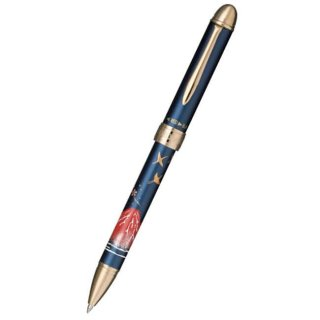 セーラー万年筆 複合筆記具(ボールペン黒・赤・シャープ0.5mm)優美蒔絵 富士 ブルー 16−0352−240