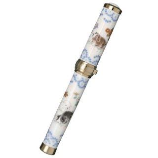 セーラー万年筆 万年筆 有田焼創業400年記念 香蘭社 染錦 遊犬の図(そめにしき ゆうけんのず) 金 10−3053