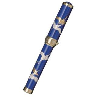 セーラー万年筆 万年筆 有田焼創業400年記念 香蘭社 瑠璃 鶴の舞(るり つるのまい) 金 10−2019