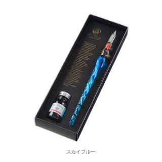 エルバン ガラスペンねじり&ミニインクセット (ねじりスカイブルー&ツルニチソウ) 21212