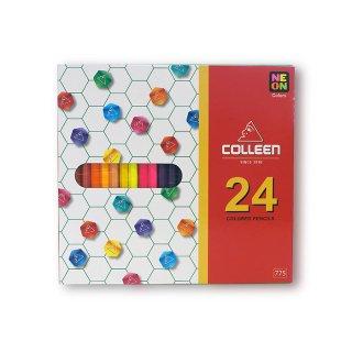 コーリン鉛筆 色えんぴつ 775六角 24色セット 775-24