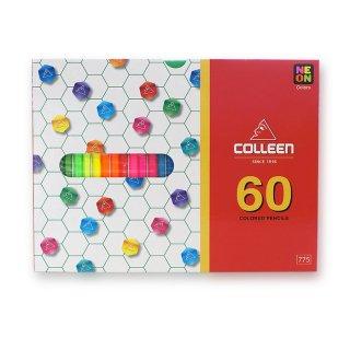 コーリン鉛筆 色えんぴつ 775六角 60色セット 775-60