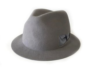 【mitake】 Dent Ribbon Hat (Gray)