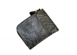 【MAGNET】 L-Fastener Short Wallet (WOOD BLACK)