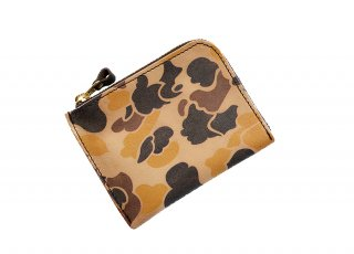 【RE.ACT】 Ink-jet Print L-Fastener Short Wallet (HUNTER CAMO)