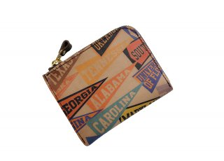 【RE.ACT】 Ink-jet Print L-Fastener Short Wallet (PENNANT)