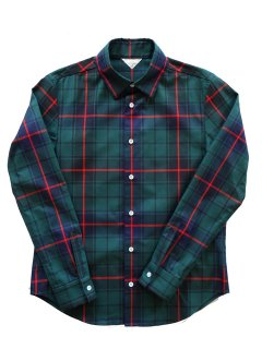 【Phablic x Kazui】 Basic Shirt (Green Check)