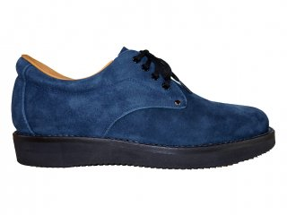 【REPLANT】Oil Suede Postman Shoes (NAVY)