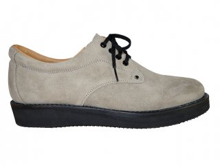 【REPLANT】Oil Suede Postman Shoes (GREGE)