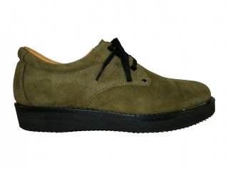【REPLANT】Oil Suede Postman Shoes (KHAKI)