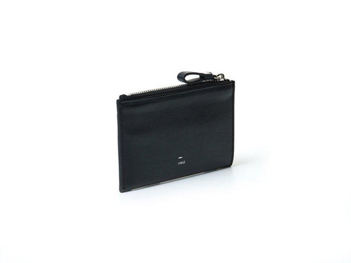 【osoi】MIGNON compact half wallet (Black)