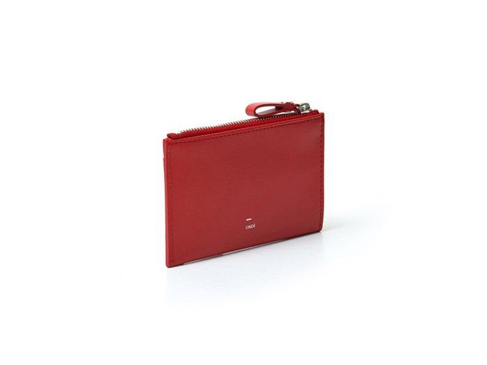 【osoi】MIGNON compact half wallet (Red)