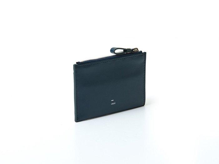 【osoi】MIGNON compact half wallet (Bondi Blue)