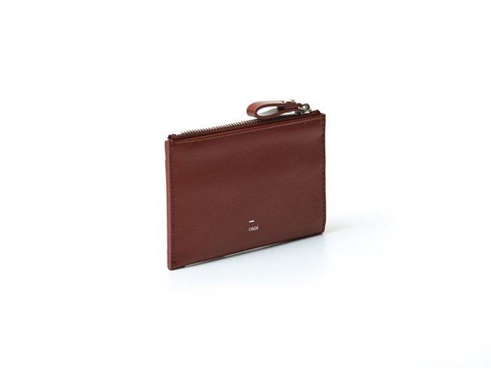 【osoi】MIGNON compact half wallet (Brown)