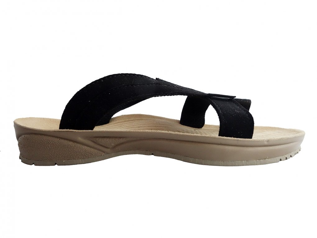 【TRIOP:トリオプ】-API / Slip-on Sandals(Black)