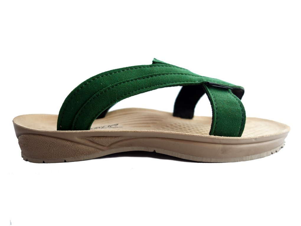 【TRIOP:トリオプ】-API / Slip-on Sandals(Dark Green)
