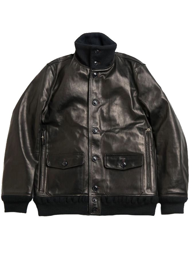 【Varde77】A-1 TYPE DAMAGE HORSE LEATHER JACKET  (BLACK)