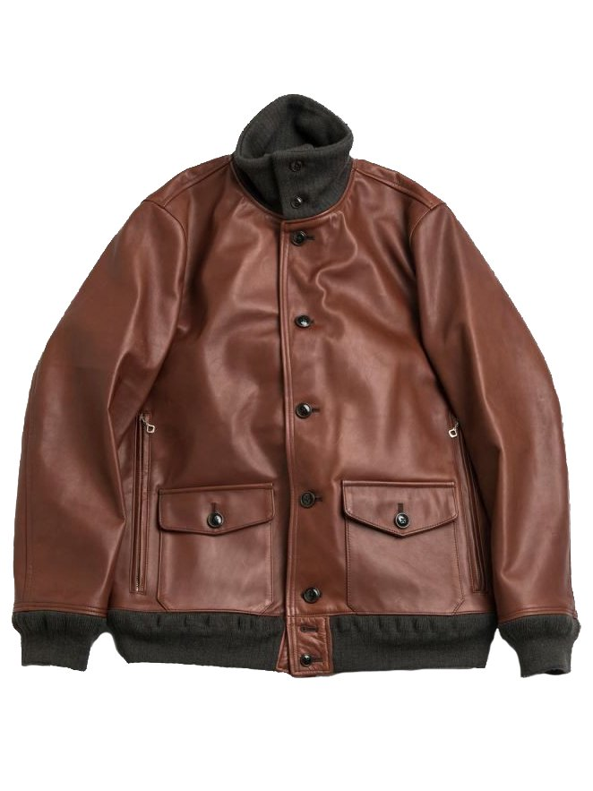 【Varde77】A-1 TYPE DAMAGE HORSE LEATHER JACKET  (BROWN)