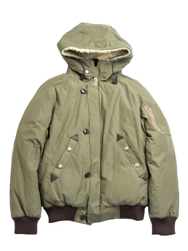 【Varde77】ARMY DOWN JACKET  (KHAKI GRAY)