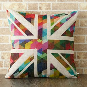 【 Jubilee London 】Cushion -Brush Union Jack-
